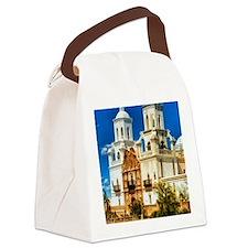 san xavier mission Canvas Lunch Bag