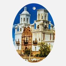 san xavier mission Oval Ornament