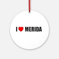 I Love Merida, Spain Ornament (Round)