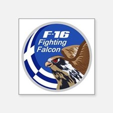 "Greek F-16 Square Sticker 3"" x 3"""