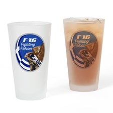 Greek F-16 Drinking Glass