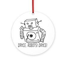 Dance Robots Dance Round Ornament
