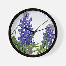Texas bluebonnet circle charm Wall Clock