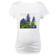 Texas bluebonnets modern clock Shirt