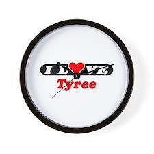 I Love Tyree Wall Clock