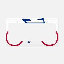 Blue and Red Cycling License Plate Holder