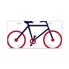 Navy Blue and Red Cycling Aluminum License Plate