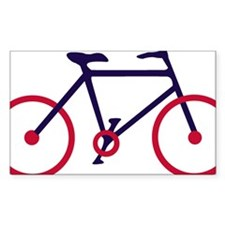 Navy Blue and Red Cycling Decal
