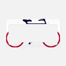 Navy Blue and Red Cycling License Plate Holder