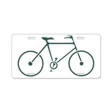 Green and White Cycling Aluminum License Plate