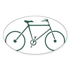 Green and White Cycling Decal