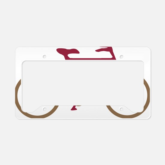 Red and Dark Gold Cycling License Plate Holder