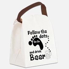 Follow The Dots And Drink Beer Canvas Lunch Bag
