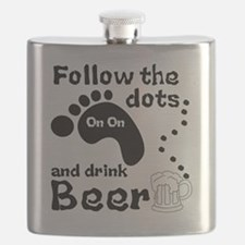 Follow The Dots And Drink Beer Flask