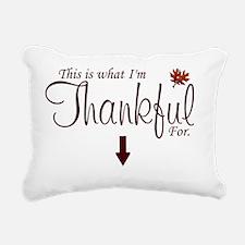 Thankful Maternity2 Rectangular Canvas Pillow