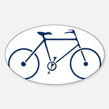 Blue and White Cycling Sticker (Oval)