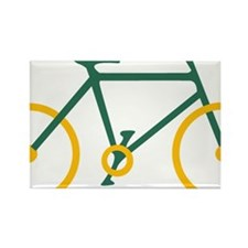 Green and Gold Cycling Rectangle Magnet
