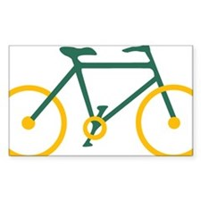 Green and Gold Cycling Stickers
