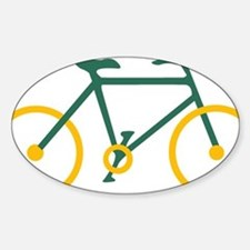 Green and Gold Cycling Sticker (Oval)