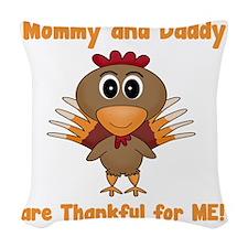 Thankful Turkey Woven Throw Pillow