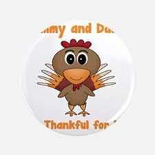"Thankful Turkey 3.5"" Button"