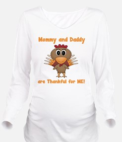 Thankful Turkey Long Sleeve Maternity T-Shirt