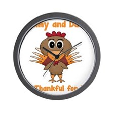 Thankful Turkey Wall Clock