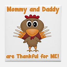 Thankful Turkey Tile Coaster