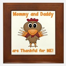 Thankful Turkey Framed Tile