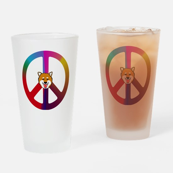 Shiba Peace Drinking Glass