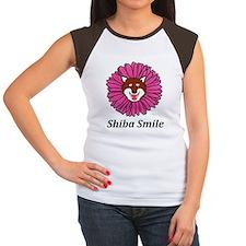 Shiba Smile Women's Cap Sleeve T-Shirt