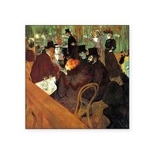 "Toulouse-Lautrec At the Mou Square Sticker 3"" x 3"""