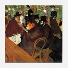 Toulouse-Lautrec At the Moulin Rouge Tile Coaster
