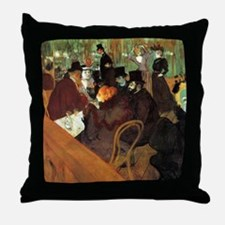 Toulouse-Lautrec At the Moulin Rouge Throw Pillow