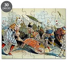 Circus of Clowns Vintage Art Print Puzzle