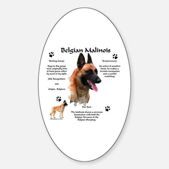 Malinois 1 Oval Decal