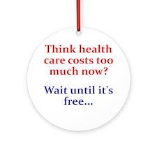 Free Health Care Ornament (Round)