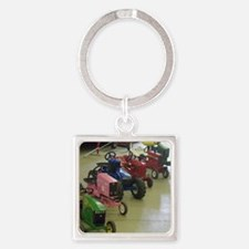 Pedal Pull Tractors Ready to Roll Square Keychain