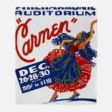 Vintage Carmen Opera Throw Blanket
