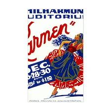 Vintage Carmen Opera Decal