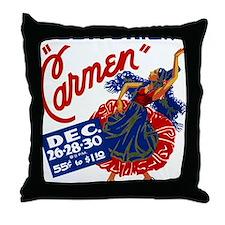 Vintage Carmen Opera Throw Pillow