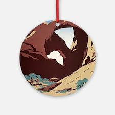 See America Desert Round Ornament