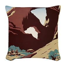 See America Desert Woven Throw Pillow