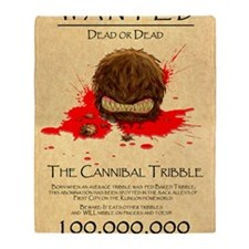 Cannibal Tribble Wanted Poster Throw Blanket