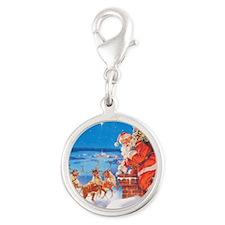 Santa Claus 60_SQ Silver Round Charm