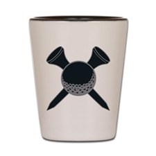 Black and Silver Golf Shot Glass