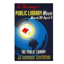 Public Library: An Americ Postcards (Package of 8)