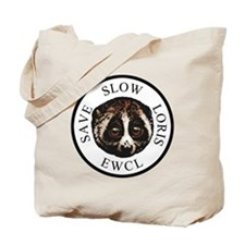 slow loris circular logo Tote Bag