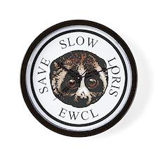 slow loris circular logo Wall Clock