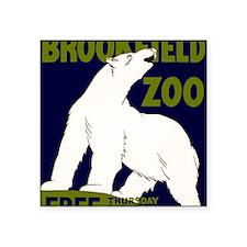 "Vintage Visit the Zoo Square Sticker 3"" x 3"""